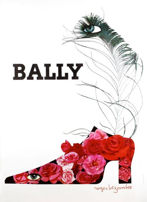 By Roger Bezombes (1913-1994), c. 1985, Bally. (French)