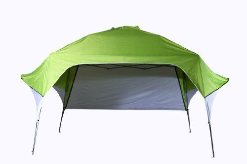 Fast Set Wing Canopy with Adjustable Rear Wall (Green, 8 x 8-Feet x 103-Inch) by Fast Set. Save 10 Off!. $89.99. Durable 210D polyester top provide protection from the sun. Fast Set frame sets up in minutes and covers 80 Sq. Feet. Unit folds to fit in wheeled, made out of 600D polyester carrybag for portability. Steel frame has welded feet for durability. This canopy is economical, light weight and convinient. Great for camping, tailgating, picnics, sporting events and the backyard