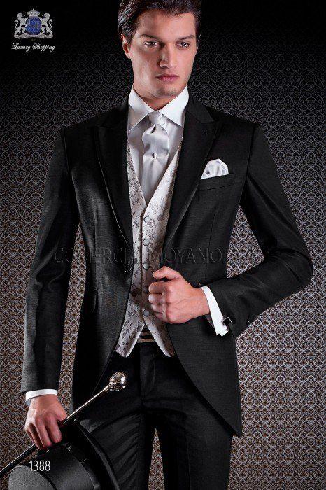 Neueste Kollektion Von Mens Frock Coat Navy Wedding Fancy Dress Prom 100% Wool with Satin Lapel