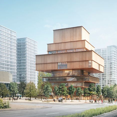 The Vancouver Art Gallery has unveiled a conceptual design for its new building by Herzog & de Meuron, featuring a series of stacked volumes clad in wood