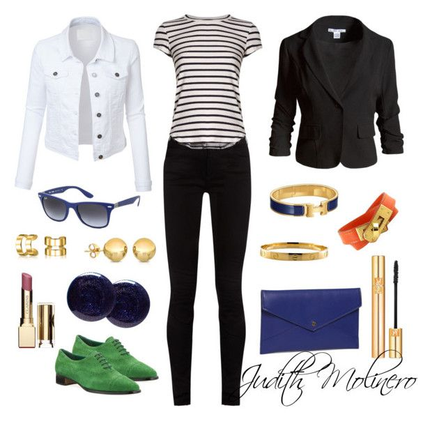 """""""Green Oxford outfits"""" by judith-molinero-fashion on Polyvore featuring Manolo Blahnik, Gucci, Frame, LE3NO, Sans Souci, Danielle Nicole, Ray-Ban, Hermès, Cartier and Bling Jewelry"""