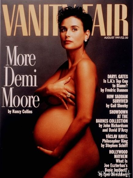 The notorious Demi Moore pregnant nude cover!