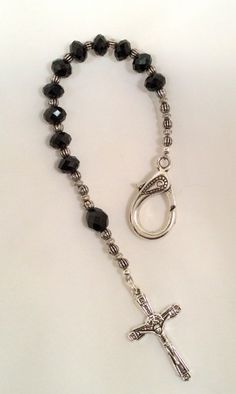 Personal Pocket Rosary in black