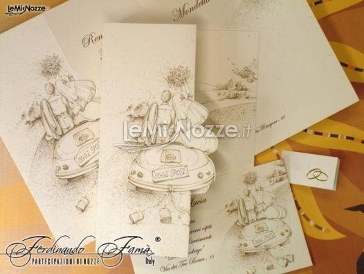 http://www.lemienozze.it/operatori-matrimonio/partecipazioni_e_tableau/organizzazione-matrimonio-bari/media/foto/19  Partecipazioni di matrimonio con disegni che raffigurano gli sposi