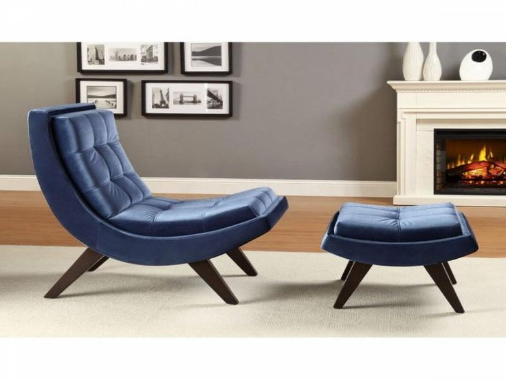 Chelsea Lane Lashay Velvet Lounge Chair  Ottoman Blue The is a masterpiece of art Best 25 Contemporary chaise lounge chairs ideas on Pinterest