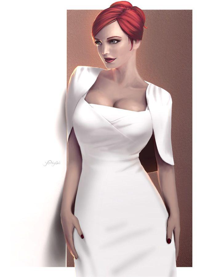 Shadowrun NPC idea - socialite/face >>>Repin Joan style (MADMEN) by yoshiyaki.deviantart.com on @DeviantArt
