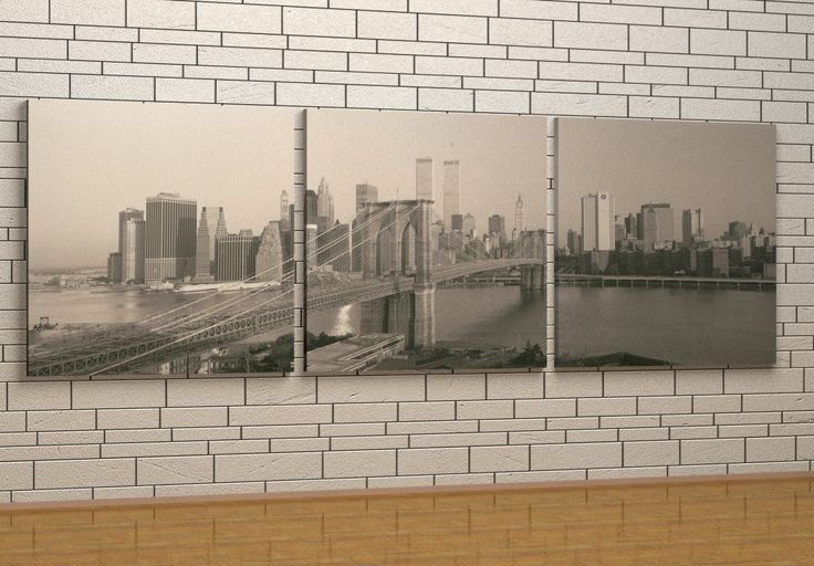 Brooklyn Bridge with Towers - Canvas