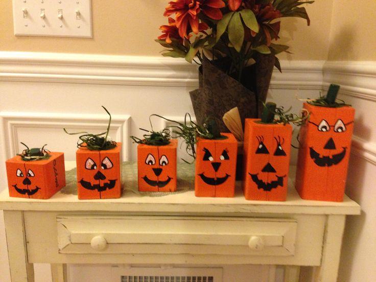 4x4 pumpkin family decor fall pinterest pumpkins for Decoration 4x4