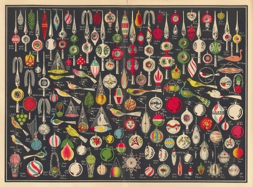 Glass From Christmas Past. Vintage Christmas OrnamentsRetro ...