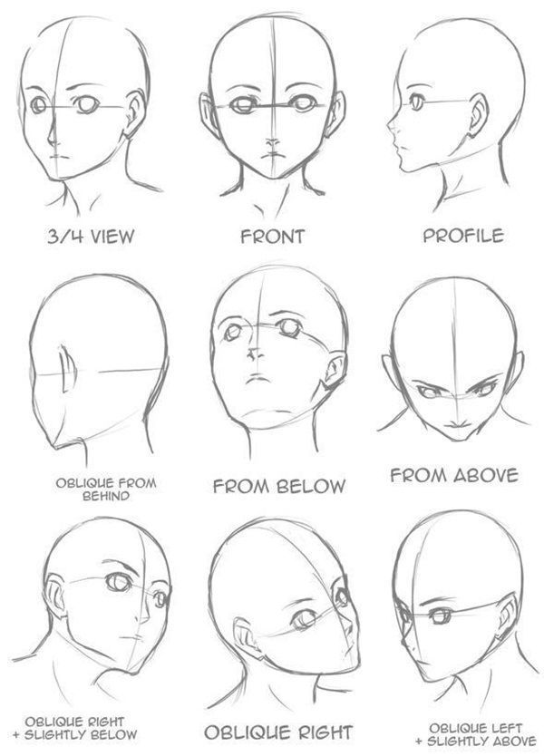 Learn How To Draw Anime Characters Step By Step 30 Examples Anime Characters Draw Examples Step Art Drawings Sketches Drawing Tutorial Drawing Heads