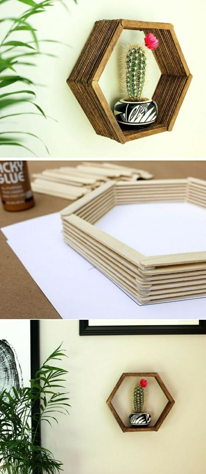 7 küchenregal selber machen aus karton blumentopf pflanze diy projekt blume
