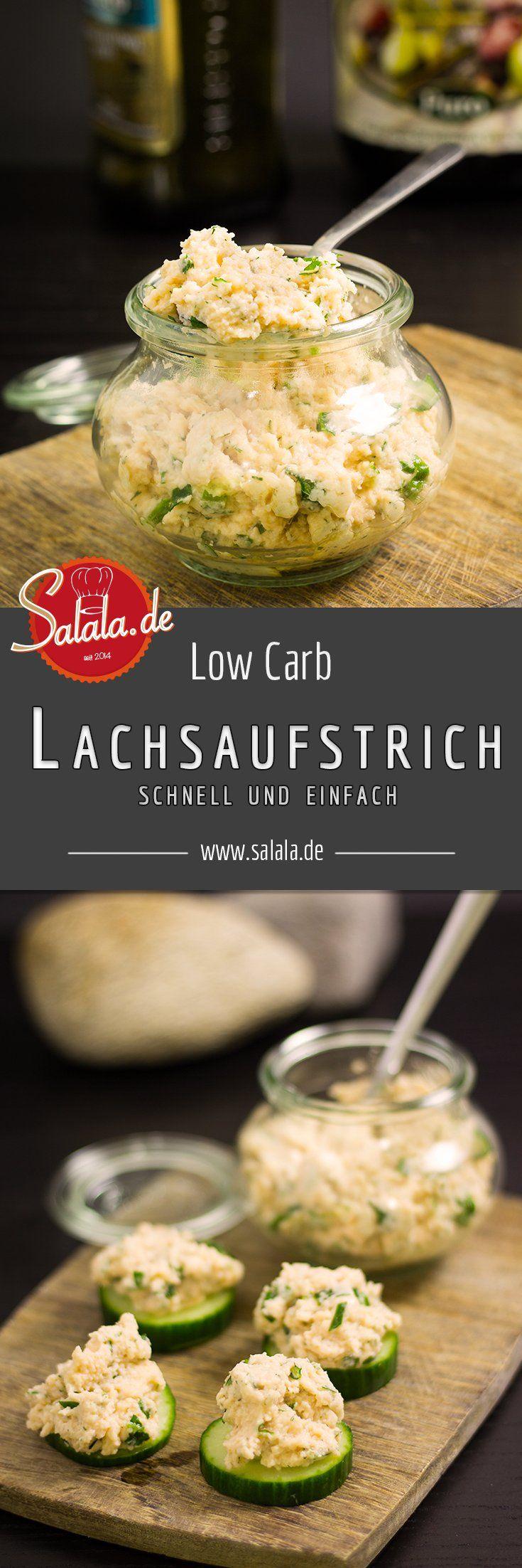 Lachsaufstrich Rezept schnell einfach und Low Carb - by salala.de - Frischkäse Lachs Brotaufstrich Low Carb selber machen zum Frühstück
