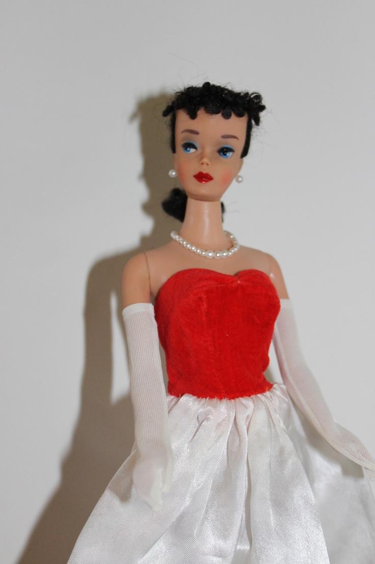 Vintage Barbie Ponytail 4 in Silken Flame ..  I had this dress!