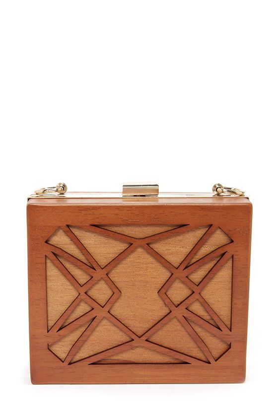 Wood I Ever! Brown Clutch at LuLus.com!