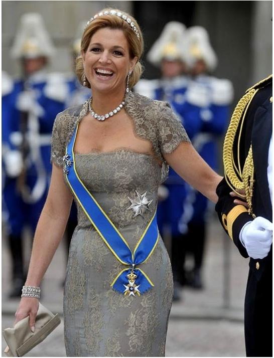 Op de bruiloft van de Zweedse kroonprinses Victoria en prins Daniel in Stockholm in 2010.