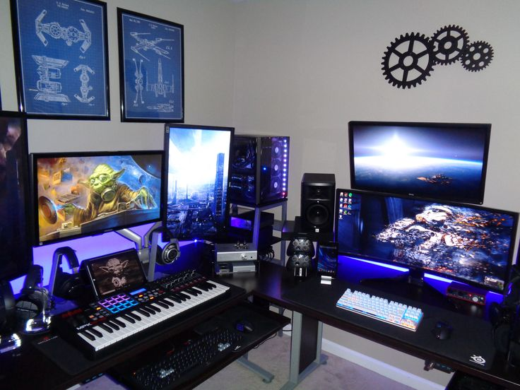 1000 Ideas About Gaming Setup On Pinterest Computer