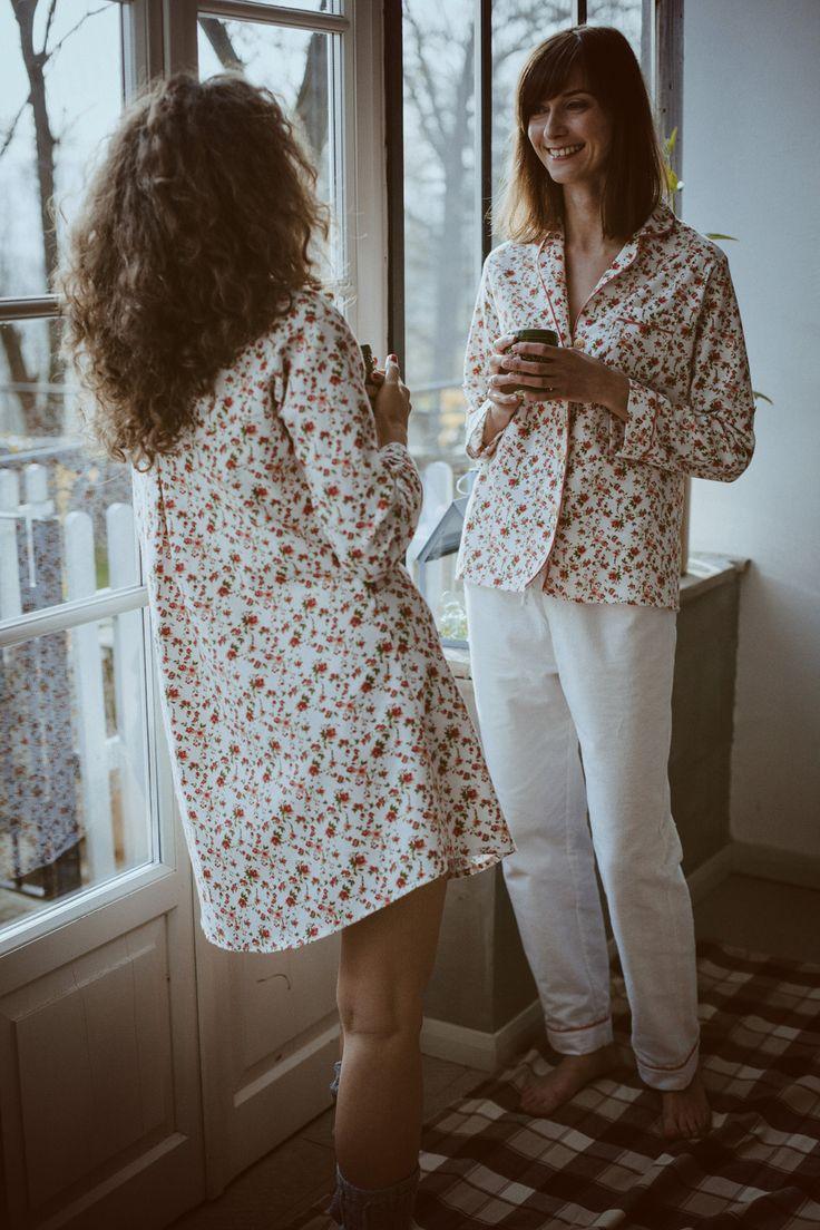 Piżama damska Laura Flowers | Lunaby