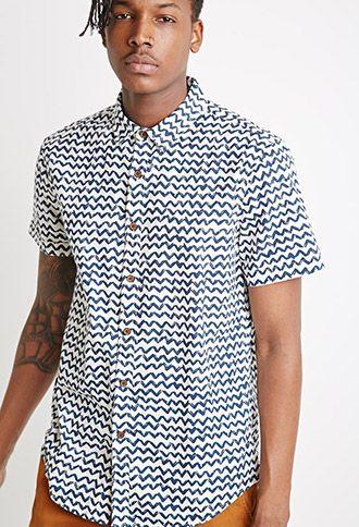 Abstract Chevron Print Shirt | 21 MEN | #forever21men