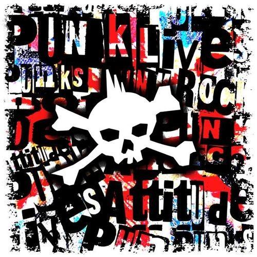 Punk Skull Poster By Roseanne Jones