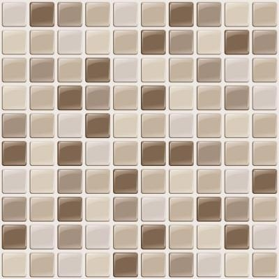 tiles 10 in x 10 in multi colored harmony mosaic gel tile backsplash