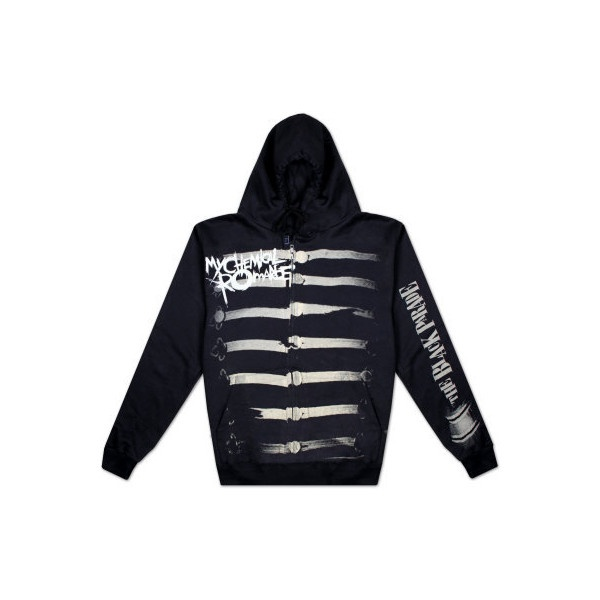 My Chemical Romance - Together We March Zip Hoodie ($55) found on Polyvore