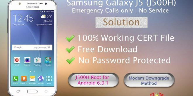 Samsung Galaxy J5 J500H Emergency Calls only | No Service Solution
