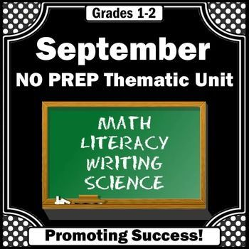 September Activities No Prep Math & Literacy Worksheets for Back to School: These fall activities are appropriate for 1st and 2nd grade. The math and literacy activities include:    A Surprise for the Teacher Little Book,  Reading Comprehension,  Vocabulary Word Wall,  Vocabulary Picture Match,   Little Book Writing,  National Anthem,  National Anthem Artwork,  Flag Sightings,  Compound Wordsand more!