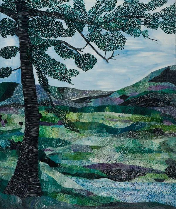 Sally Ross Landscape Glen Clunie 2011 oil on linen
