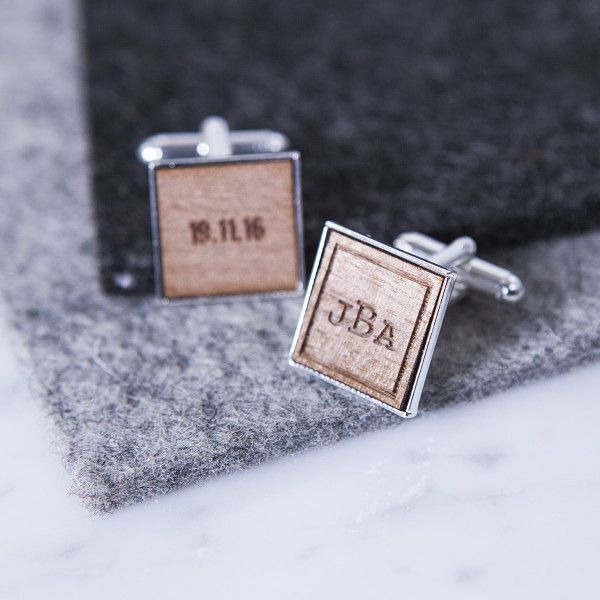 Personalised Monogram and Date Cufflinks