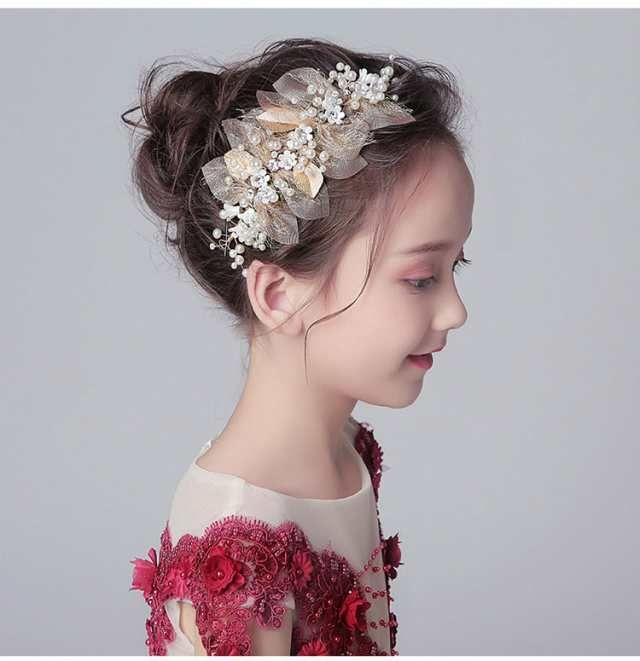 子どもカチューシャ ヘアバンド 子供用 フォーマル 髪飾り ヘア