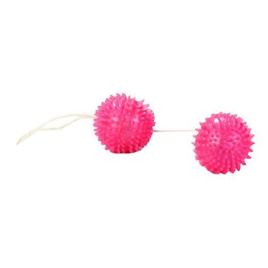 Pink soft-spike orgasm balls.Diameter: 3 cm
