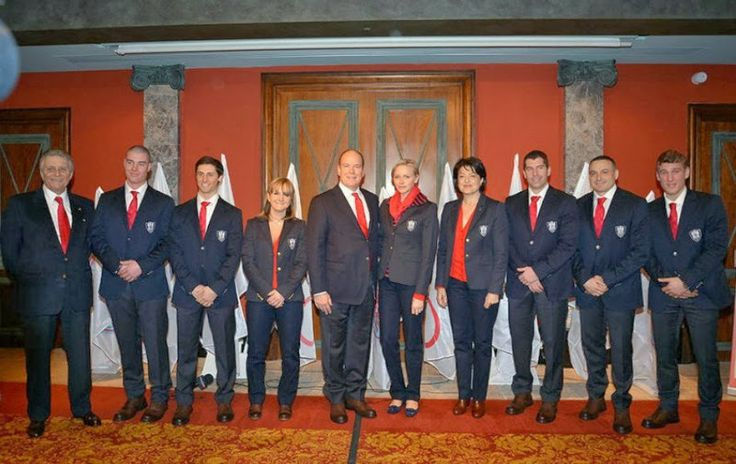Prince Albert and Princess Charlene attends the Monaco Olympic Team for the Sotchi Game presentation at Metropole Hotel  in Monte-Carlo.