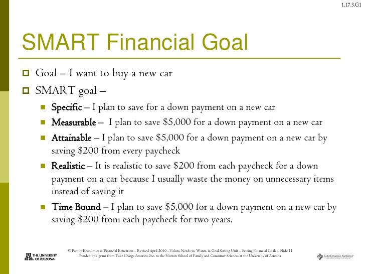 smart objectives examples for finance Examples of smart goals financial topics 1 monitor my cost centre spreadsheet on a monthly basis with regards to expenditures and revenues/fees/ recoveries, as well as deviations of both a.
