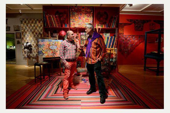 Kaffe Fassett exhibition opens at American Museum Bath, March 2014