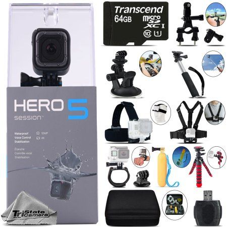 Free Shipping. Buy GoPro Hero 5 Session 4K Ultra HD, 10MP, Wi-Fi Waterproof Action Camera -64GB Kit at Walmart.com