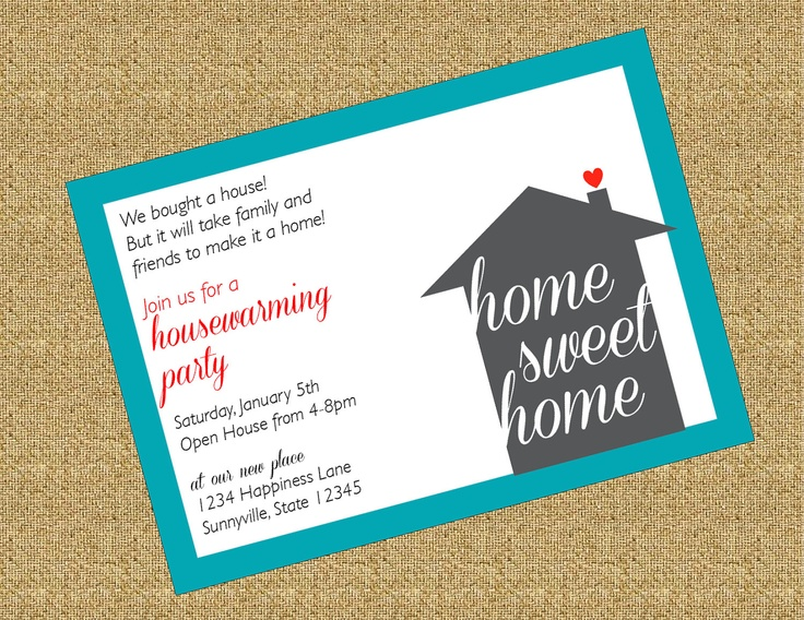 24 best Invites images on Pinterest Housewarming invitations - housewarming invitation template