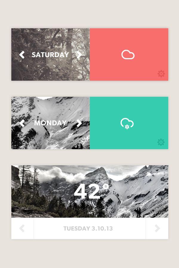 Simple Weather App by Myles Kedrowski, via Behance