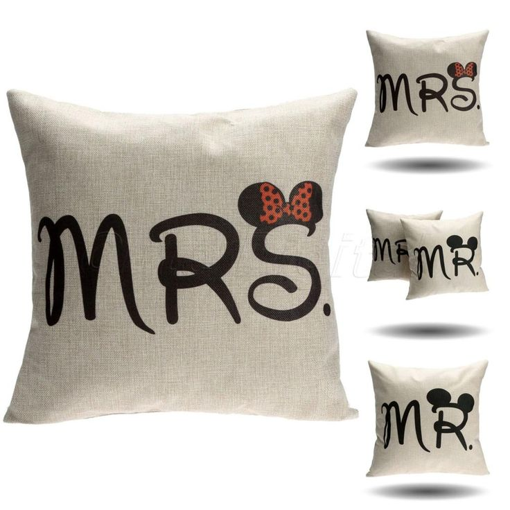 Cushion Cover Cotton Linen Pillow Case Sofa Waist Throw Couch Car Ded Home Decor Mr & Mrs Mickey Mouse Pillowcase Chair Covers #>=#>=#>=#>=#> Click on the pin to check out discount price, color, size, shipping, etc. Save and like it!