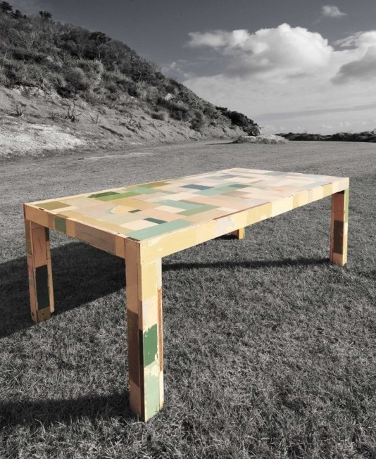 Up-cycled Kitchen Cabinet Table - Kim Creative Design Furniture