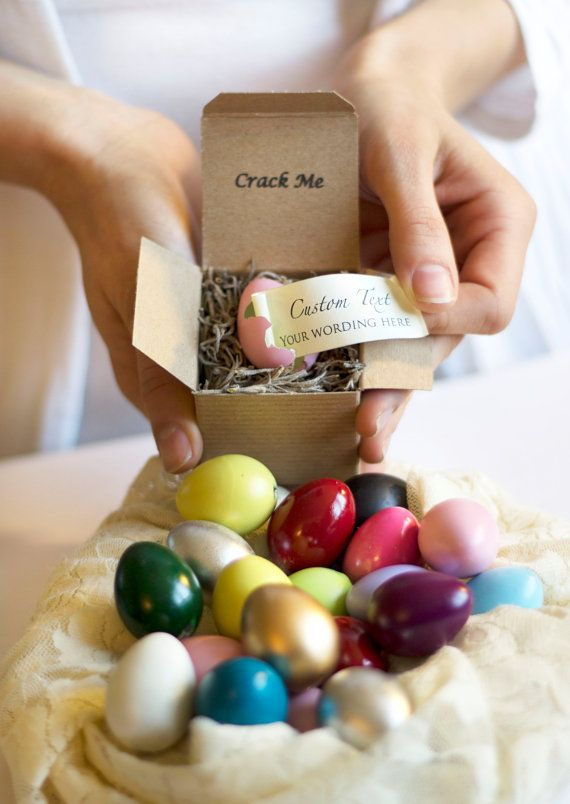 """12 Creative Ways to Ask, """"Will You Be My Bridesmaid?"""" – For a really cool chick: Crack the egg for a special message! From Little Elephant Crafts."""