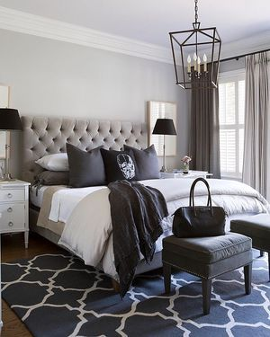 Black, white and every shade in between! Very cool bedroom by Sneller Custom.