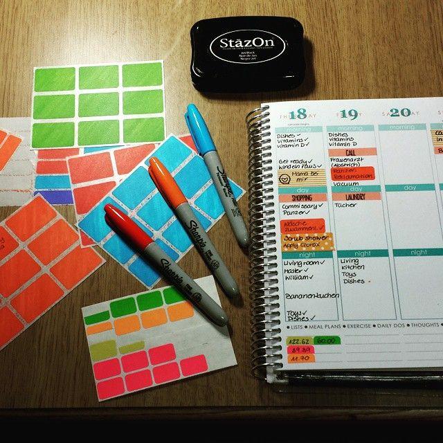 Sharpie colored blank labels are my new addiction. Love them! #planneraddict #planner #weloveec #erincondrenlifeplanner #erincondren #eclp #organized