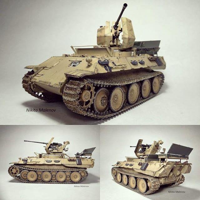 Panther Ausf D Flak Bergepanther Modeler Nikita Malenov Plastimodelismo Plasticmodel Plastimodelo Miniatura Miniature M Tanques Ejercito Alemán Dioramas