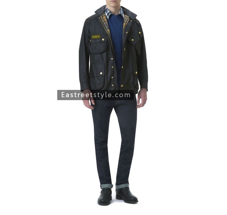 Men Barbour International Original Waxed Jacket at www.eastreetstyle.com #Barbour Jackets Sale