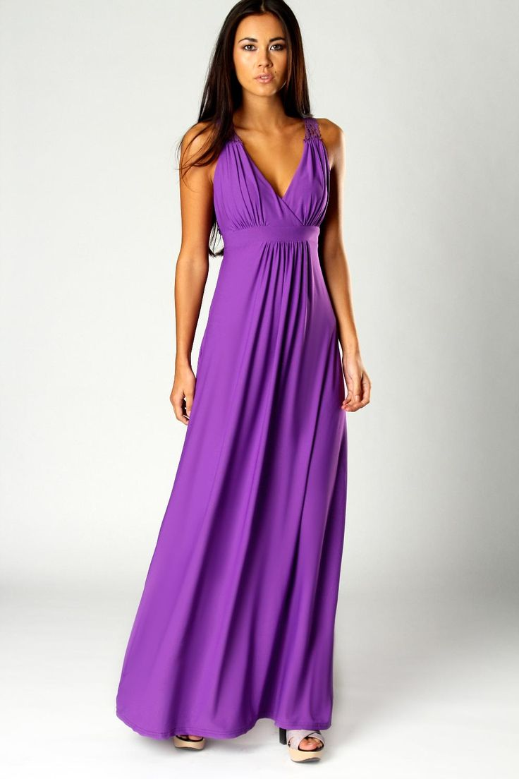 16 best Purple Maxi Dress images on Pinterest | Designing clothes ...