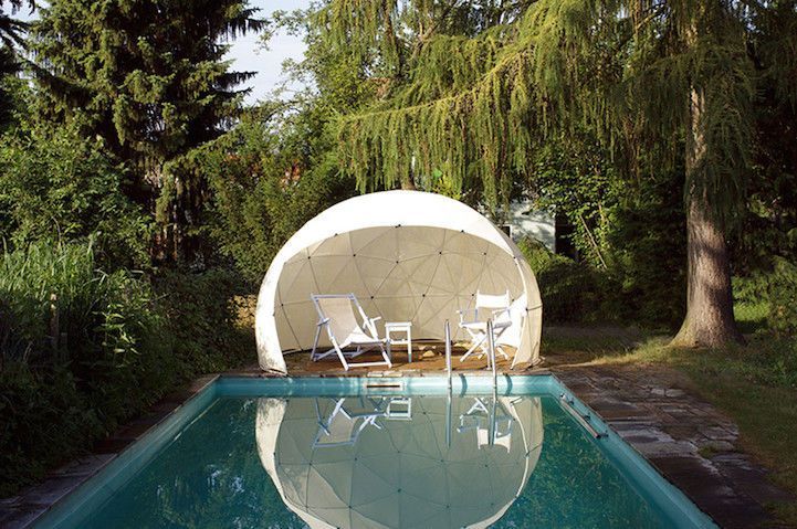 Relaxing Garden Igloos : garden canopy -   This garden canopy is also made from 100 percent recyclable materials