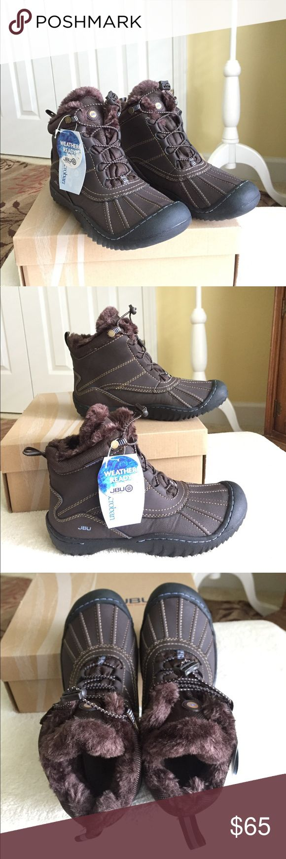 JBU Pullman Winter Booties for Women JBU Pullman Winter Booties for women. Jambu designs that is Weather Ready, with all terra traction for superior grip and durability & antibacterial footbed for breathable all day comfort. New with box. Color - brown. Size 7 women. Jambu Shoes Winter & Rain Boots
