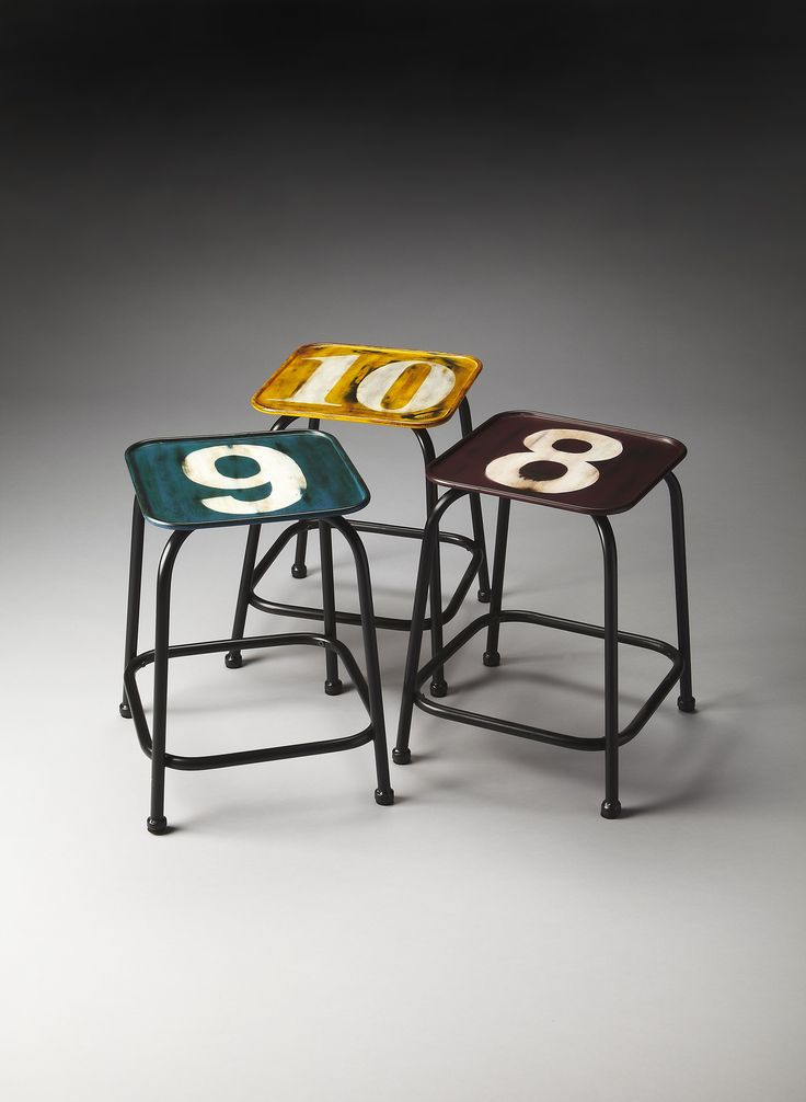 Industrial Chic Trio Industrial Chic Stool Set