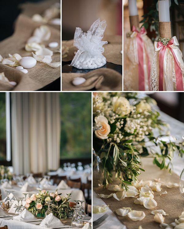 Vintage wedding in Skiathos Greece! So romantic and such a lovely island wedding! The wedding decor had #burlap, #lace and #pinkribbons, see more here http://www.love4weddings.gr/skiathos-wedding/ #vassiliszoulias #monsoonflowergirls #vintagewedding #oliveandpinkwedding #greekislandwedding #destinationweddingsGreece #skiathoswedding #stolismoslambadas