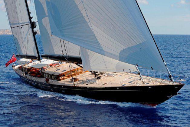 SY Marie, 180 fiit Andre Hoek Design built by Vitters Shopyard || Sailing trials off Palma Majorca, October 1st 2010